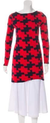 Diane von Furstenberg Pattern Wool Dress Sweater