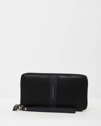 Cerruti Pebbled Leather Large Wallet- One Size