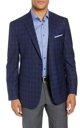 John W. Nordstrom R) Traditional Fit Plaid Wool Sport Coat