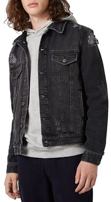 Men's Topman Distressed Denim Jacket $100 thestylecure.com