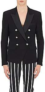 Balmain Men's Cotton Double-Breasted Sportcoat-Black