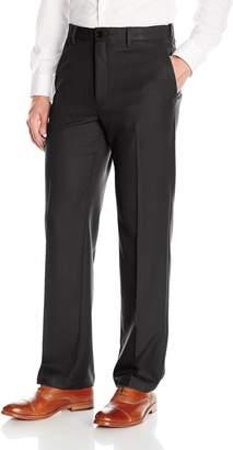 Haggar Men's Cool 18 Pro Classic Fit Flat Front Expandable Waist Pant
