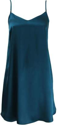 Wallace Cotton Pure Silk Teal Strappy Nightie
