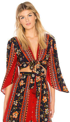Band of Gypsies Bohemian Tie Front Blouse