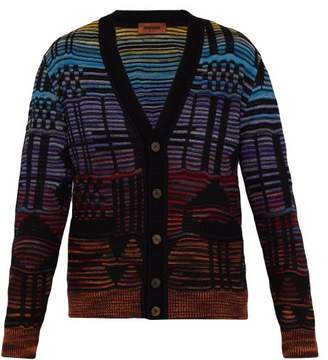 7308a42d8517a8 Missoni Geometric Jacquard Cardigan - Mens - Black Multi