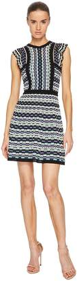 M Missoni Colorful Check Dress with Ruffle Women's Dress