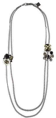 Erickson Beamon Faux Pearl & Crystal Butterfly Necklace
