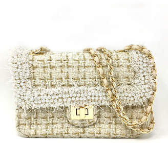 Chanel INZI Chenille Bag w Pearl Trim