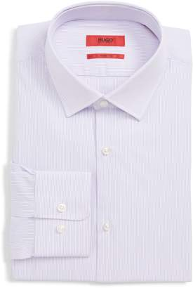 HUGO Mabel Sharp Fit Stripe Dress Shirt