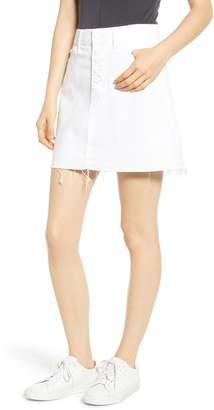 Paige Aideen Distressed Denim Miniskirt