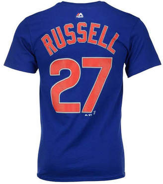 Majestic Addison Russell Chicago Cubs Official Player T-Shirt, Big Boys (8-20)