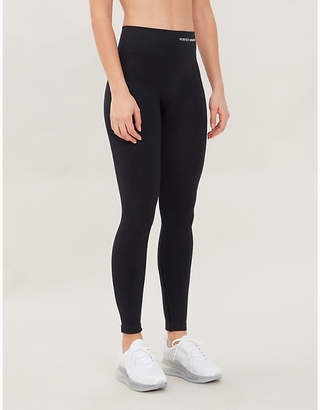 Perfect Moment Logo-print skinny high-rise stretch-knit leggings