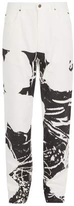 Calvin Klein 205w39nyc - Abstract Print Denim Jeans - Mens - White Black