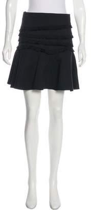Tibi Fringe-Trimmed Mini Skirt w/ Tags