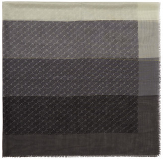 Stella McCartney Grey Monogram Scarf