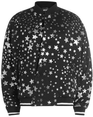 Just Cavalli Printed Cotton Bomber Jacket