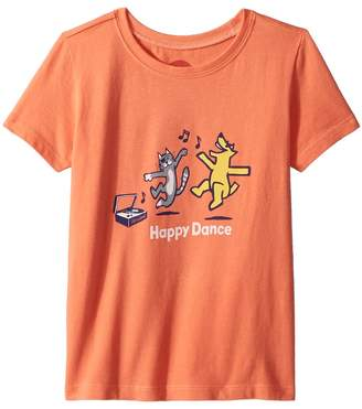 Life is Good Happy Dance Crusher Tee Kid's Clothing