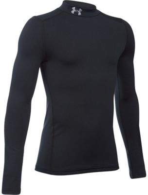 Under Armour Coldgear Mock Neck Long Sleeve Kids Baselayer Shirt
