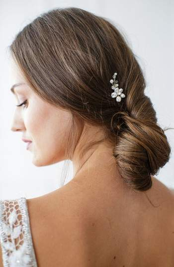 Brides & Hairpins Nahla Pearl & Crystal Flower Pin