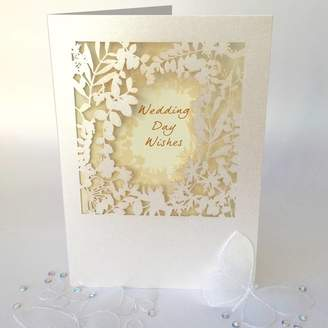 DAY Birger et Mikkelsen Pink Pineapple Home & Gifts Wedding Wishes Delicate Cut Card