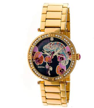 BERTHA Bertha Womens Gold Tone Strap Watch-Bthbr6202
