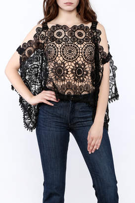 Luxxel Lace Poncho Top