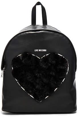 Love Moschino (ラブ モスキーノ) - HEART ポンポンバックパック