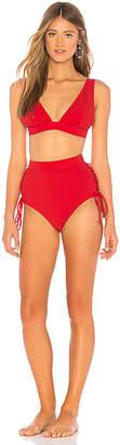 Zimmermann Castile Lace Up Bikini Set