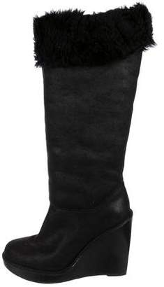 MICHAEL Michael Kors Kors by Michael Kors Cutout Wedge Knee-High Boots