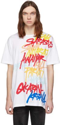 Faith Connexion White Printed Graffiti T-Shirt