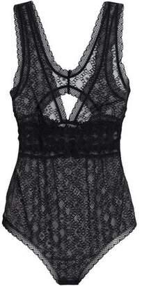 Stella McCartney Jasmine Inspiring Cutout Lace Bodysuit