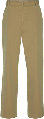 Maison Margiela Cotton-Gabardine Straight-Leg Pants