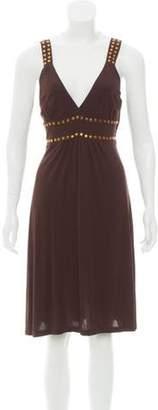 Michael Kors Embellished A-Line Dress Brown Embellished A-Line Dress