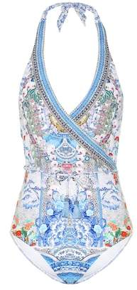 Camilla Embellished printed swimsuit