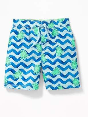 Old Navy Printed Swim Trunks for Toddler Boys