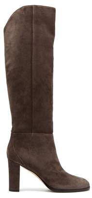 Jimmy Choo Madalie Suede Knee High Boots - Womens - Grey