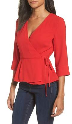 J.o.a. Surplice Wrap Top