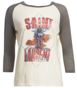 Saint Laurent Robot Raglan T-Shirt