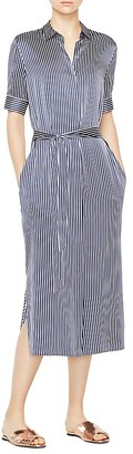 ATM Anthony Thomas Melillo Silk Charmeuse Stripe Shirt Dress $495 thestylecure.com
