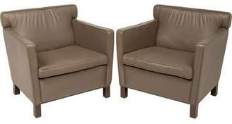 Knoll Pair of Leather Krefeld Lounge Chairs