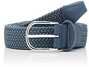Barneys New York Men's Braided Stretch Belt - Blue