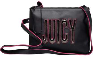 Juicy Couture Juicy By Womens Arianna Crossbody Bag Gun Metal