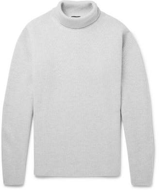 Tom Ford Ribbed Wool Rollneck Sweater - Men - Stone