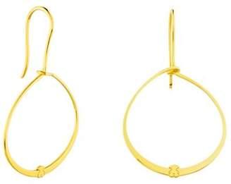 Tous Hoop Drop Earrings