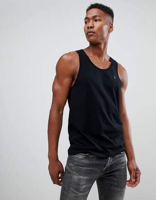 AllSaints tank in black with logo