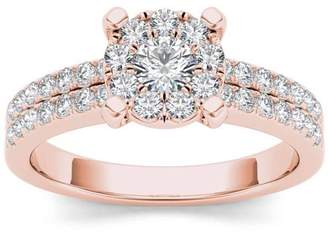 Imperial Diamond Imperial 3/4 Carat T.W. Diamond Cluster 14kt Rose Gold Engagement Ring