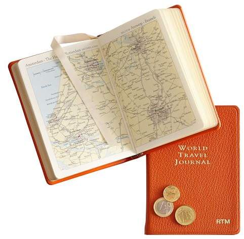 Leather Bound World Travel Journal