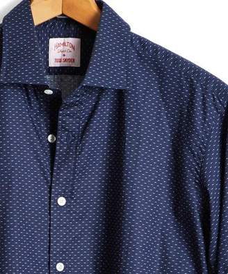 Hamilton Made in the USA + Todd Snyder Deco Dot Dress Shirt in Navy