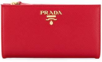Prada Saffiano slim wallet