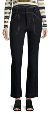 Derek Lam 10 Crosby Cropped Flared Utility Jeans